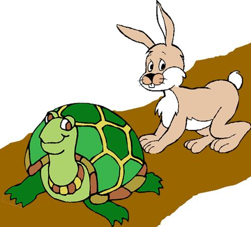 Ngày xửa ngày xưa có một con thỏ và một con rùa cãi nhau xem ai nhanh hơn,  Chúng quyết định giải quyết việc tranh luận bằng một cuộc thi chạy.
